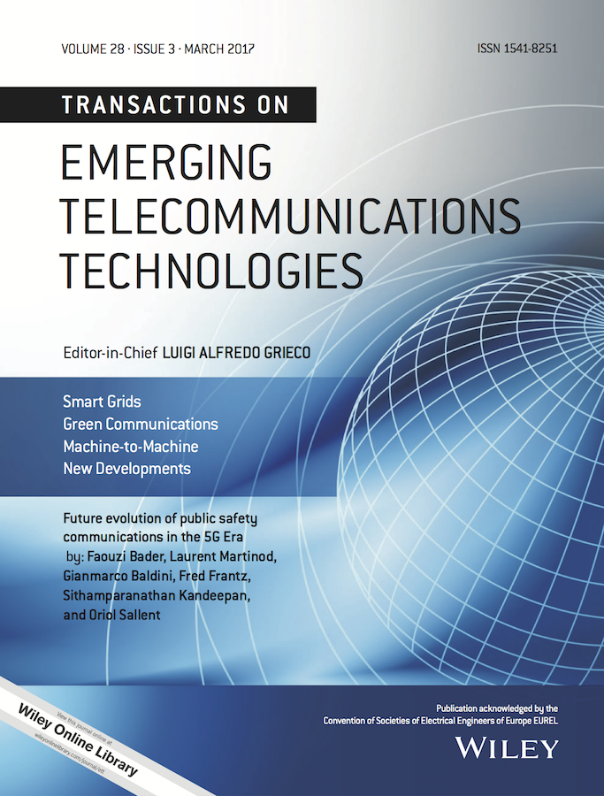 Template for submissions to Transactions on Emerging Telecommunications Technologies (ETT)