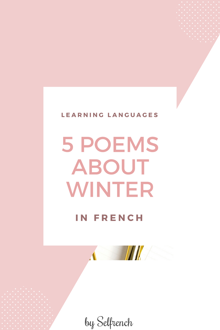 Selfrench 5 Poems About Winter In French