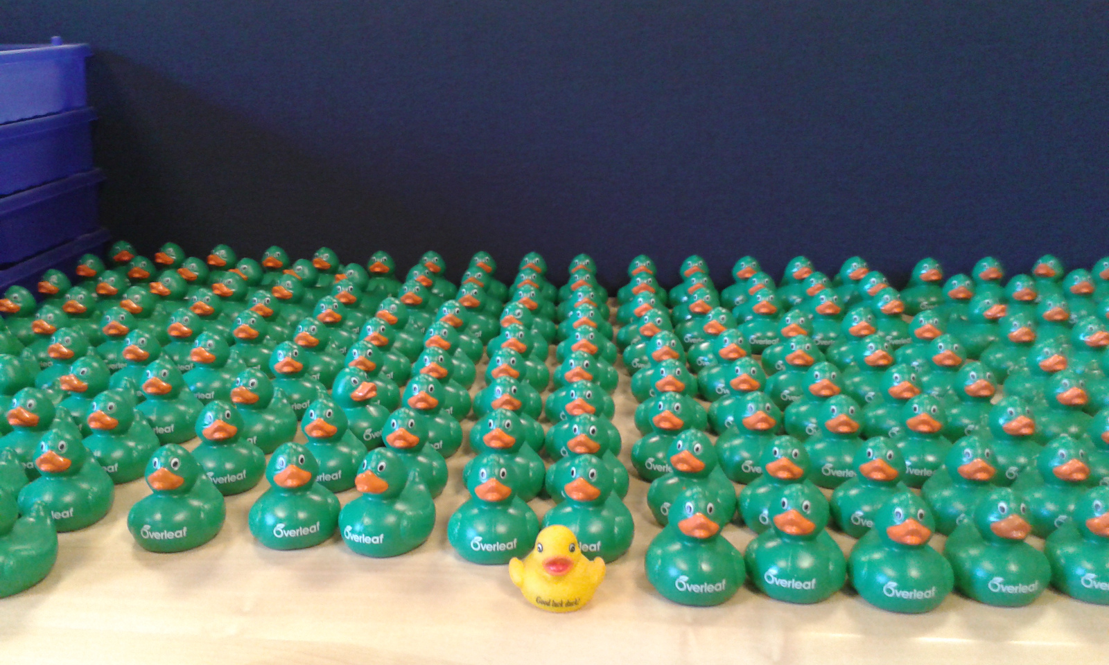 Overleaf Rubber Duck Army at Imperial College London