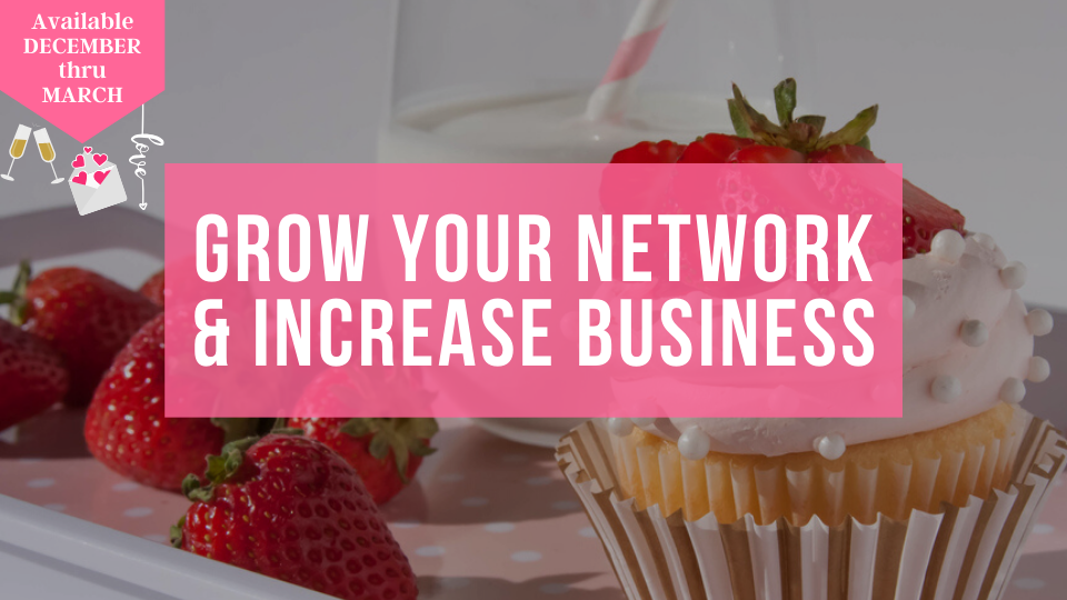 Learn how to increase sales in your baking and sweets business by networking and growing business connections from the Sugar Coin Academy, Business Education for Bakers.