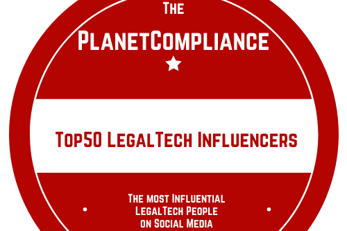 The PlanetCompliance Top 50 LegalTech Influencers