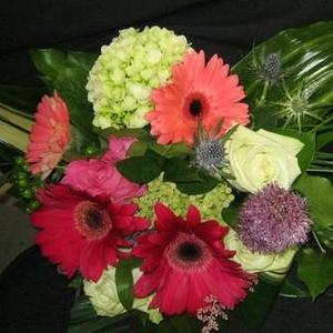 Fleurs Coupées - Bouquet lié gerbera - $75