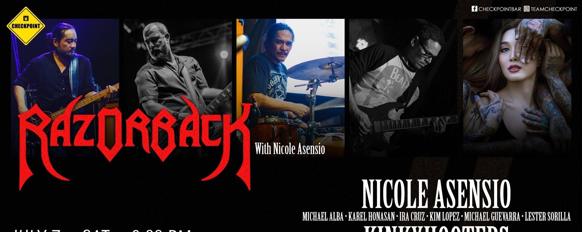 Razorback, Nicole Asensio, Kinkyhooters & Airport Drama Live!