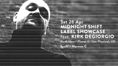 MIDNIGHT SHIFT LABEL SHOWCASE feat. KIRK DEGIORGIO (UK)
