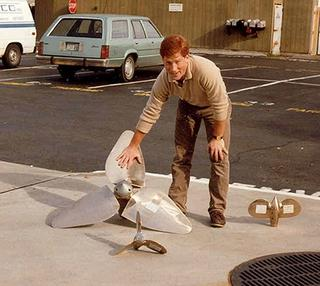 Fred Hutchison with several Max-Props in 1985
