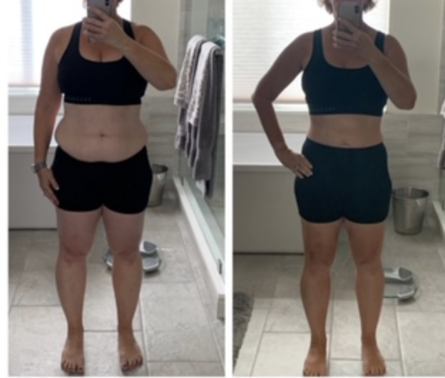 Testimonial from Laura J, before and after photo!