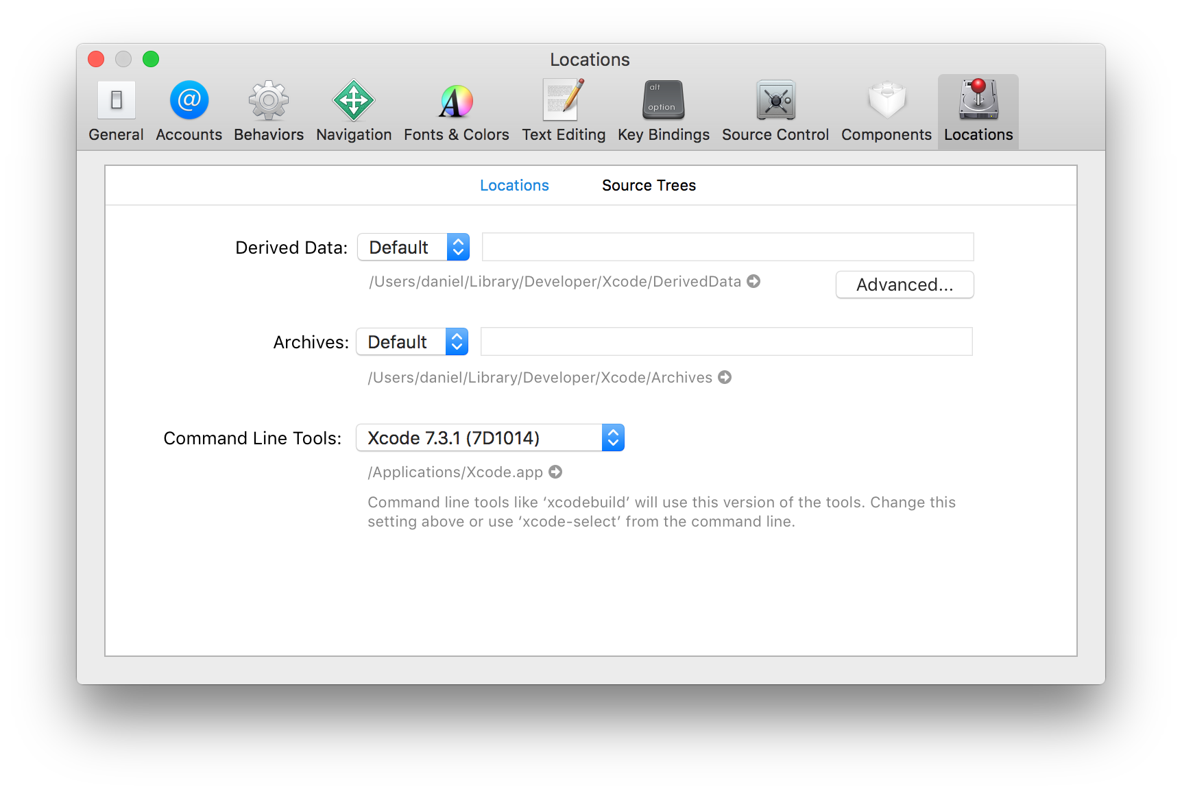 Get the Location of DerivedData in Xcode