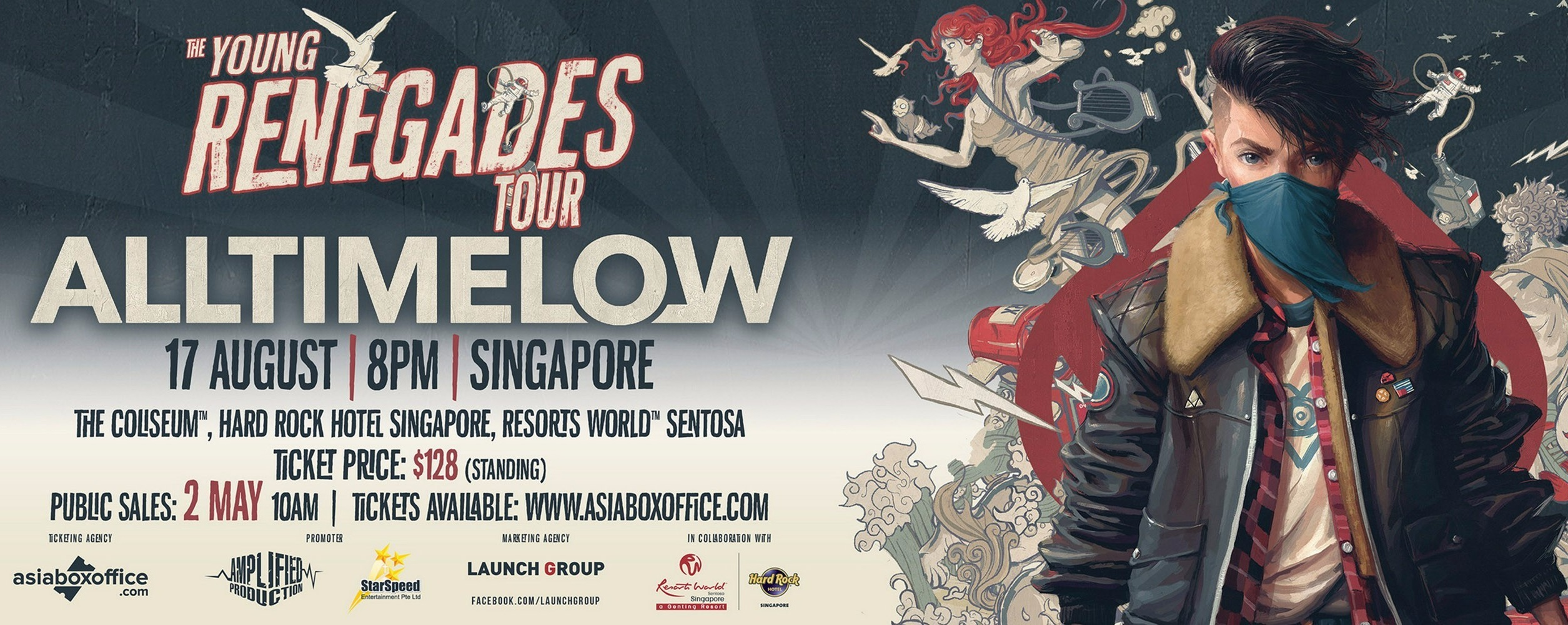 All Time Low live in Singapore