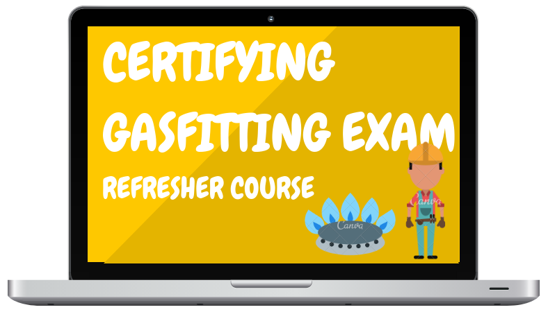Certifying Gasfitting Exam Refresher Course - Lap Top Graphic