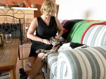 Kim Working on a Dog