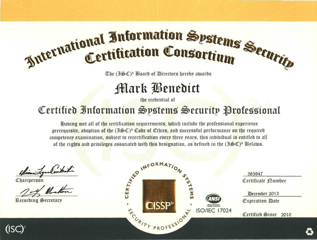 cyber attack and cyber security certifications