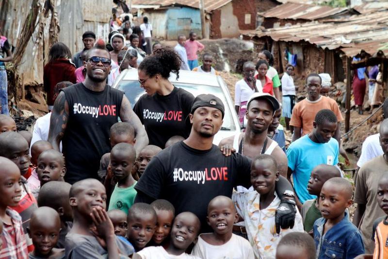 Walking withLove in Kibera Slums Africajpeg