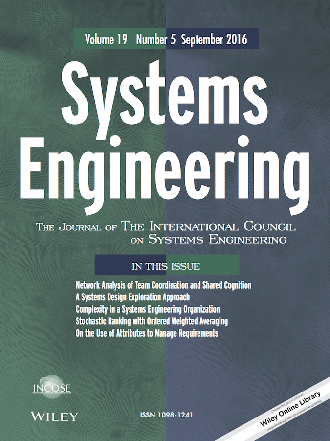 Template for submissions to Systems Engineering