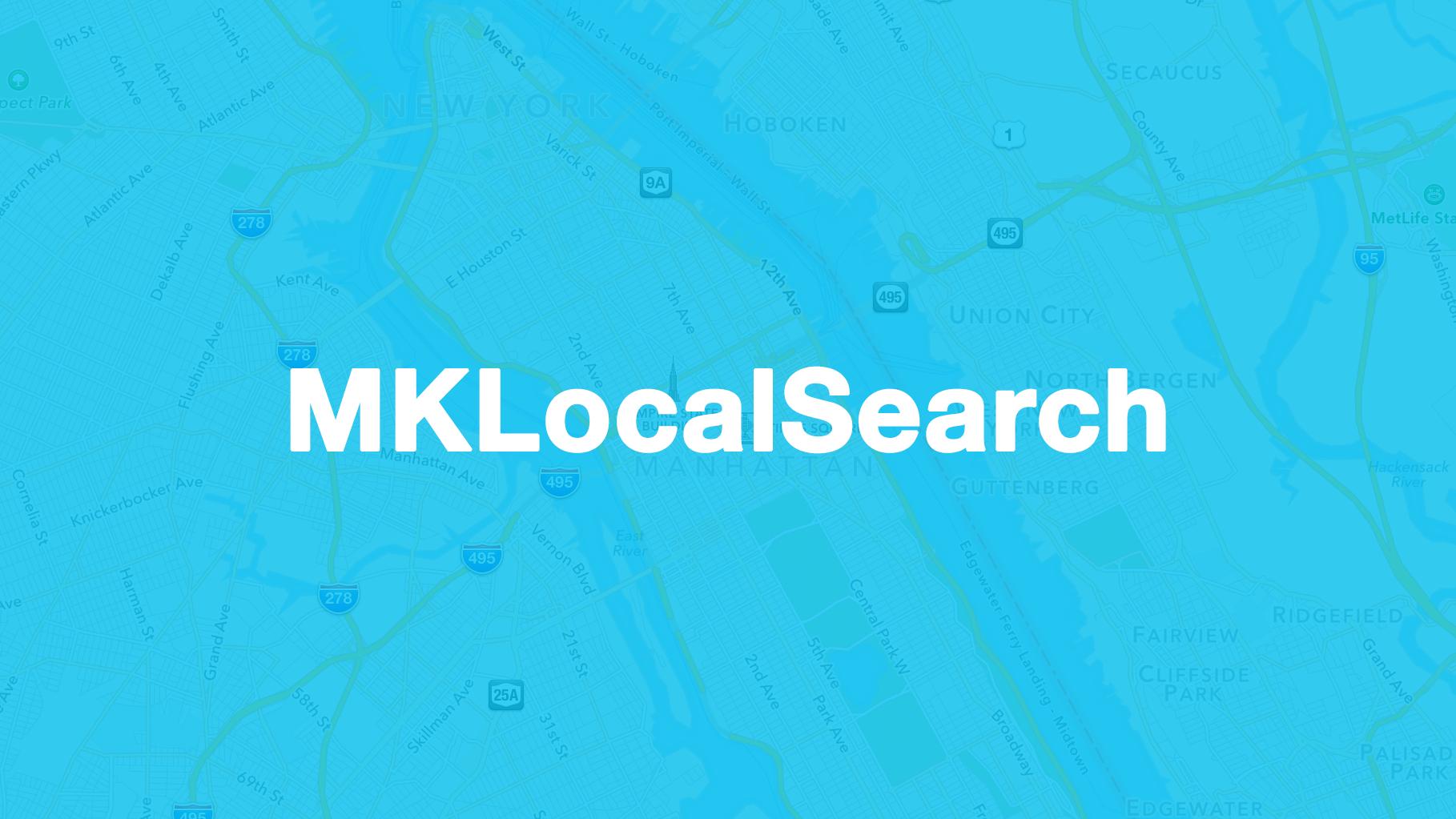 Swift Quick Tip: Using Apple MapKit's MKLocalSearch