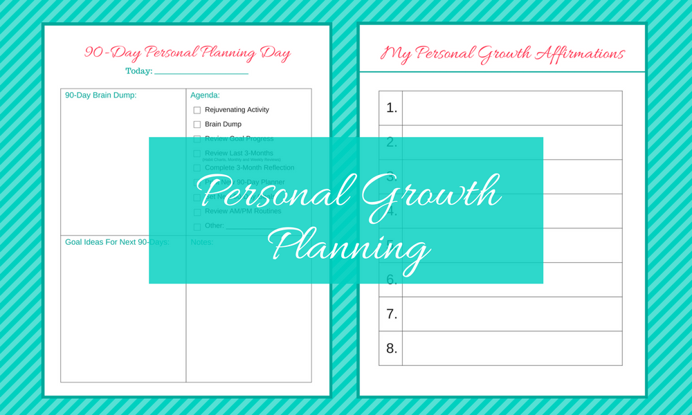 Printable Worksheets personal growth worksheets : 90-Day Personal Growth Goal and Life Planning System | Moms Choose Joy