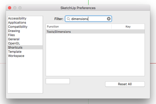 ShortcutsDimensions