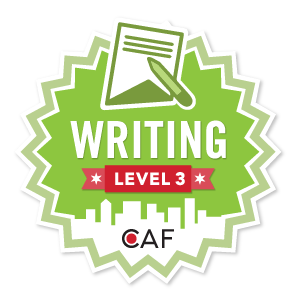 Badge for Writing - Level 3