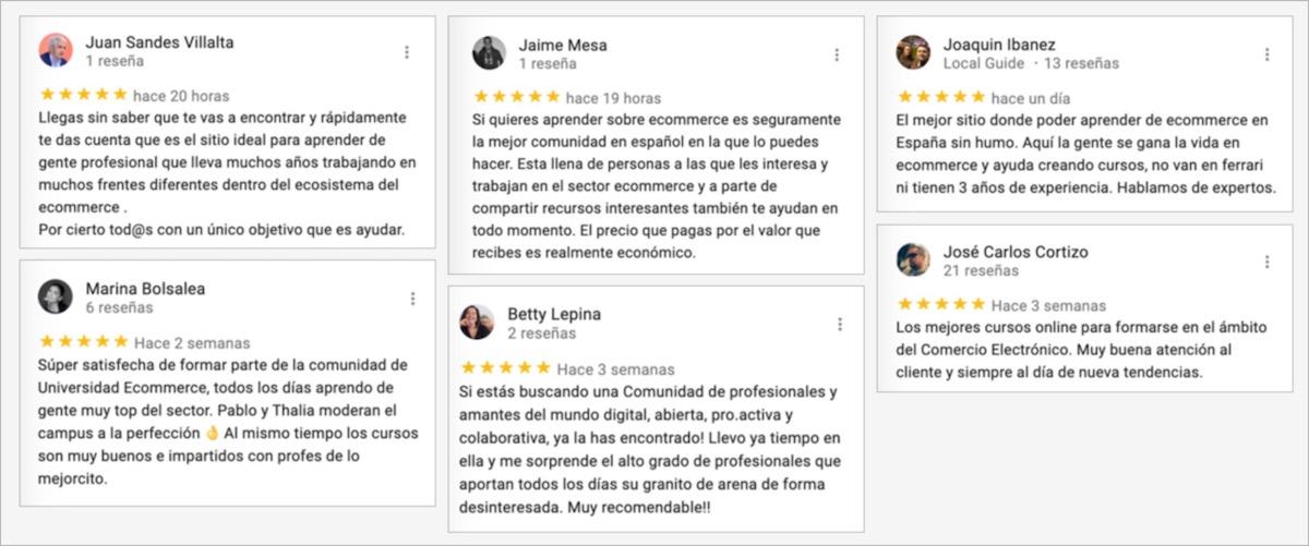 Opiniones de Universidad Ecommerce