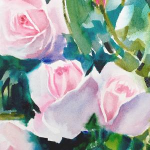akvarellimaalaus kukka