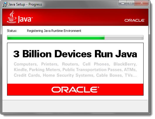 Installing Java on your machine.