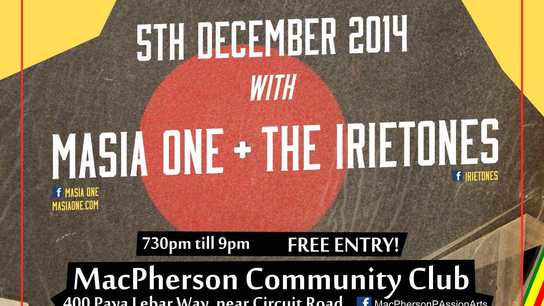 Passion Arts Casual Fridays presents Masia One + The Iretones