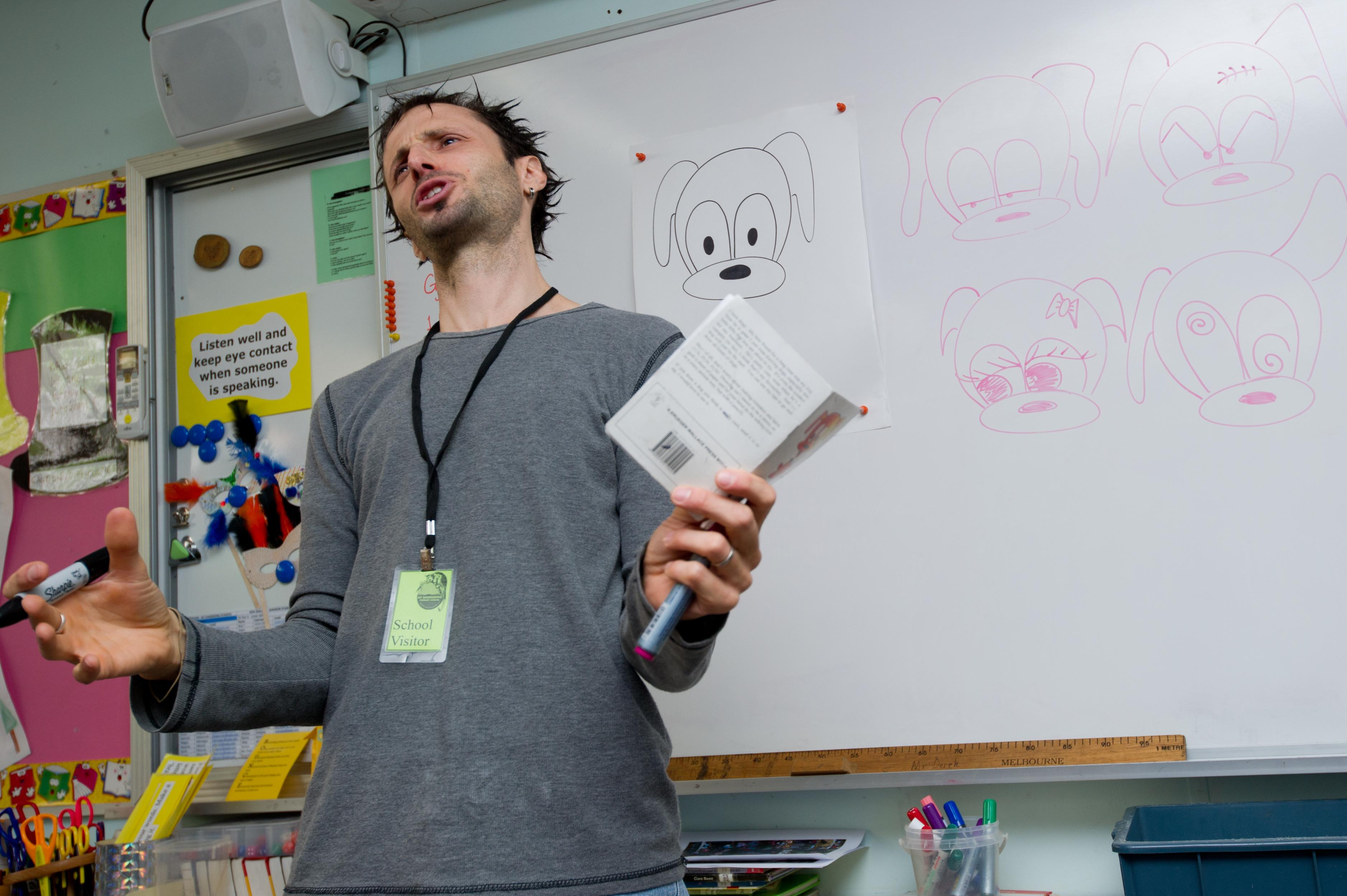Adam Wallace School visits author children