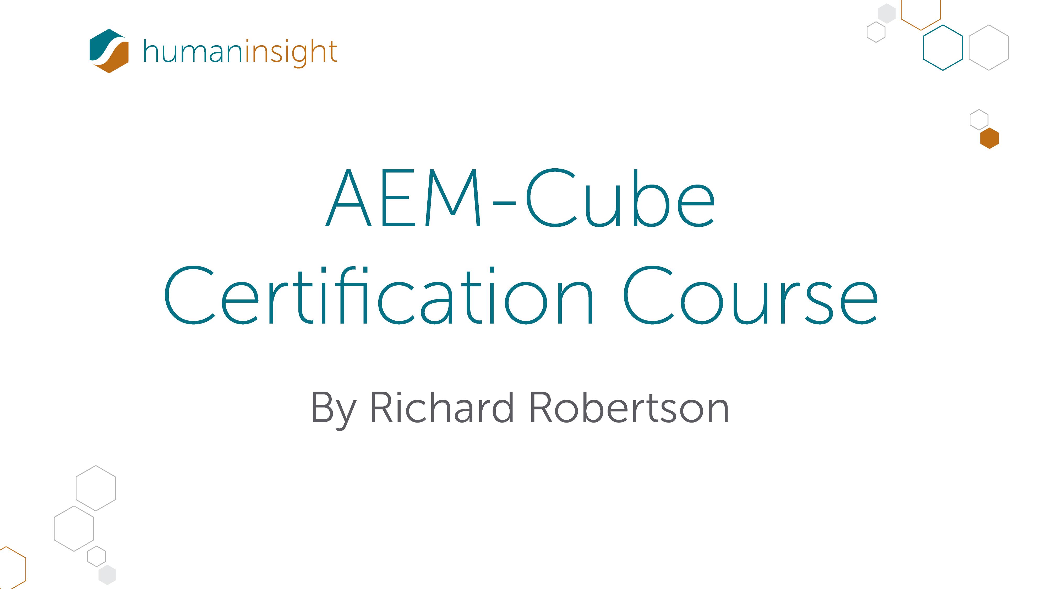 Certification Training Part 44 The Aem Cube Human Insight Academy