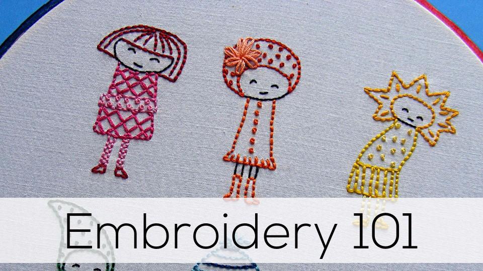 Embroidery 101 Shiny Happy World
