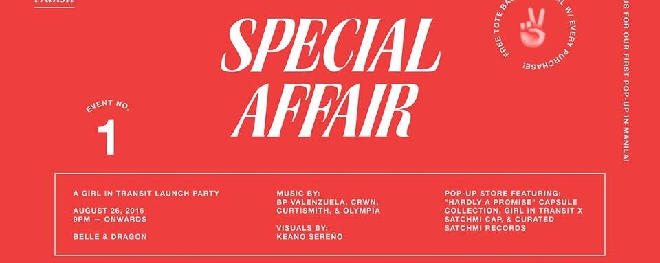 Special Affair: girl in transit Launch Party