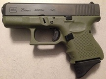 Glock G26 G4 OD Green