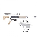 AR-15 Rifle Build Kit with FDE Magpul Stock and Magpul MLOK FDE Handguard, FDE Magpul Grip and LPK