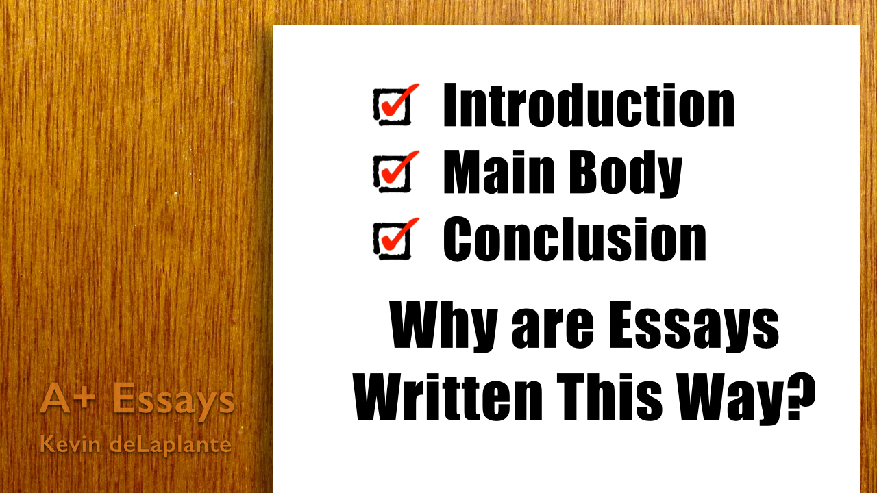 introduction main body conclusion why are essays written this way
