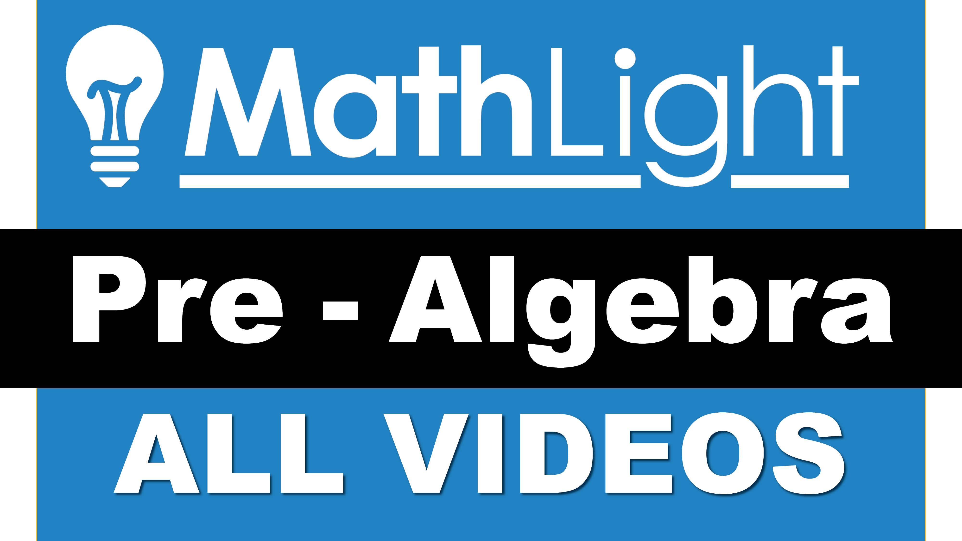 Mathlight pre algebra mathlight fandeluxe Gallery