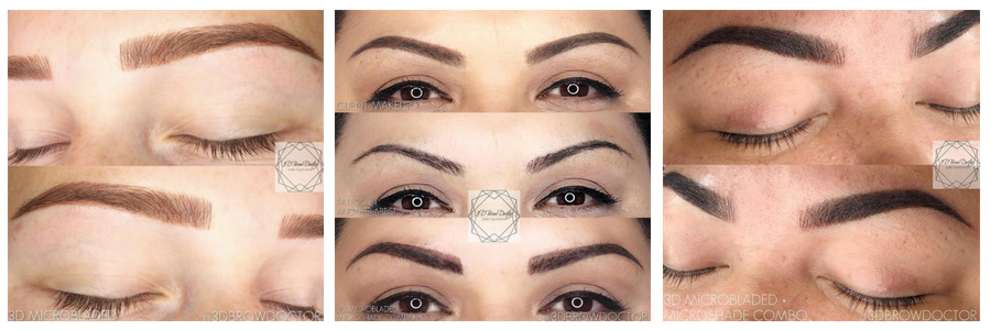 The 3dbrowdoctor portfolio, the microblading institute