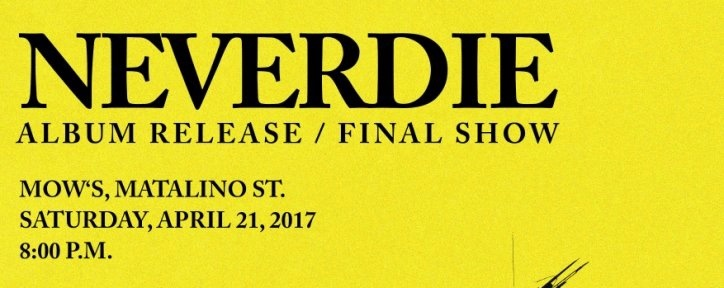 Neverdie Album Release//Final Show