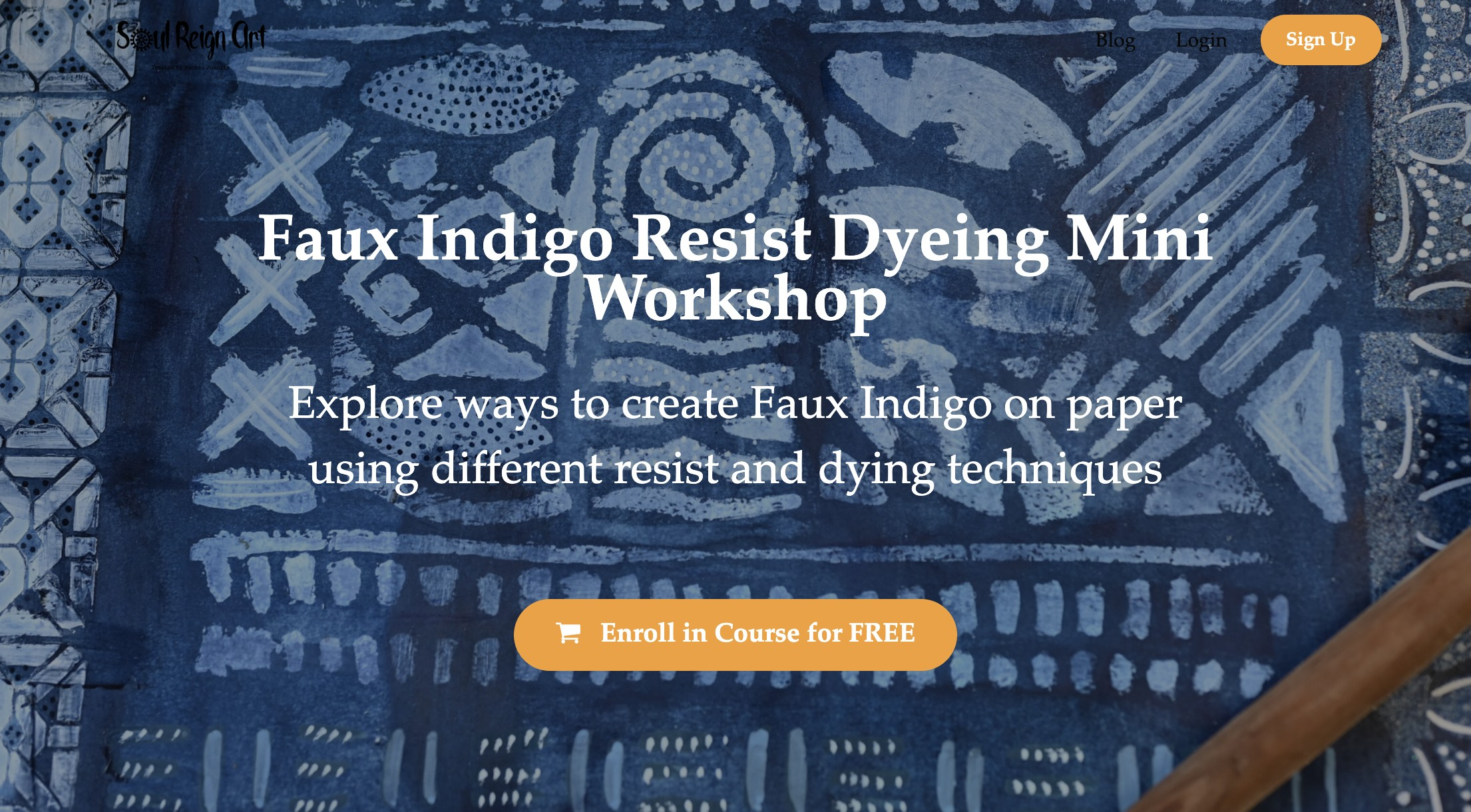 Enroll in Free Faux Indigo Resist Dyeing Mini Course