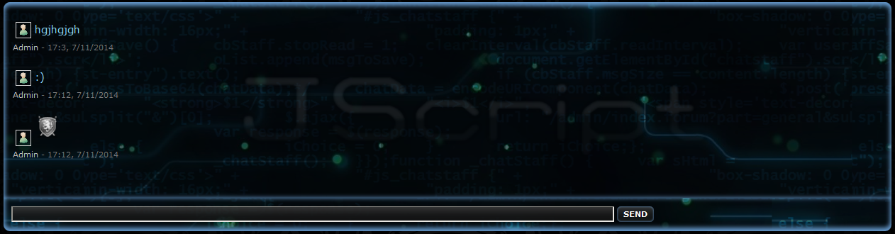 [Project] Staff's Chatbox AFHsjwd6QdqSGP1WXXVY+jschatdemo