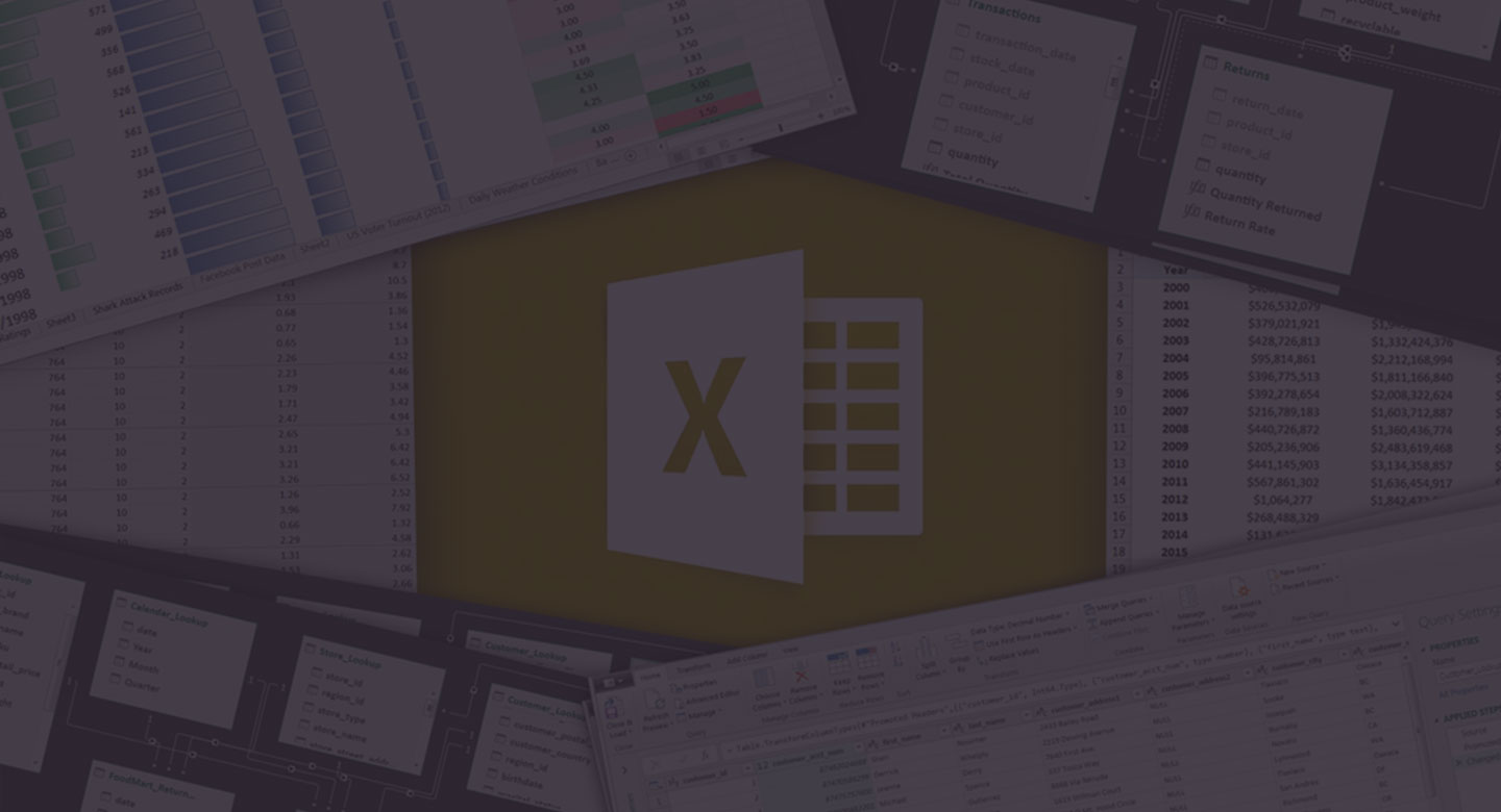 Microsoft Excel: Intro to Power Query, Power Pivot & DAX