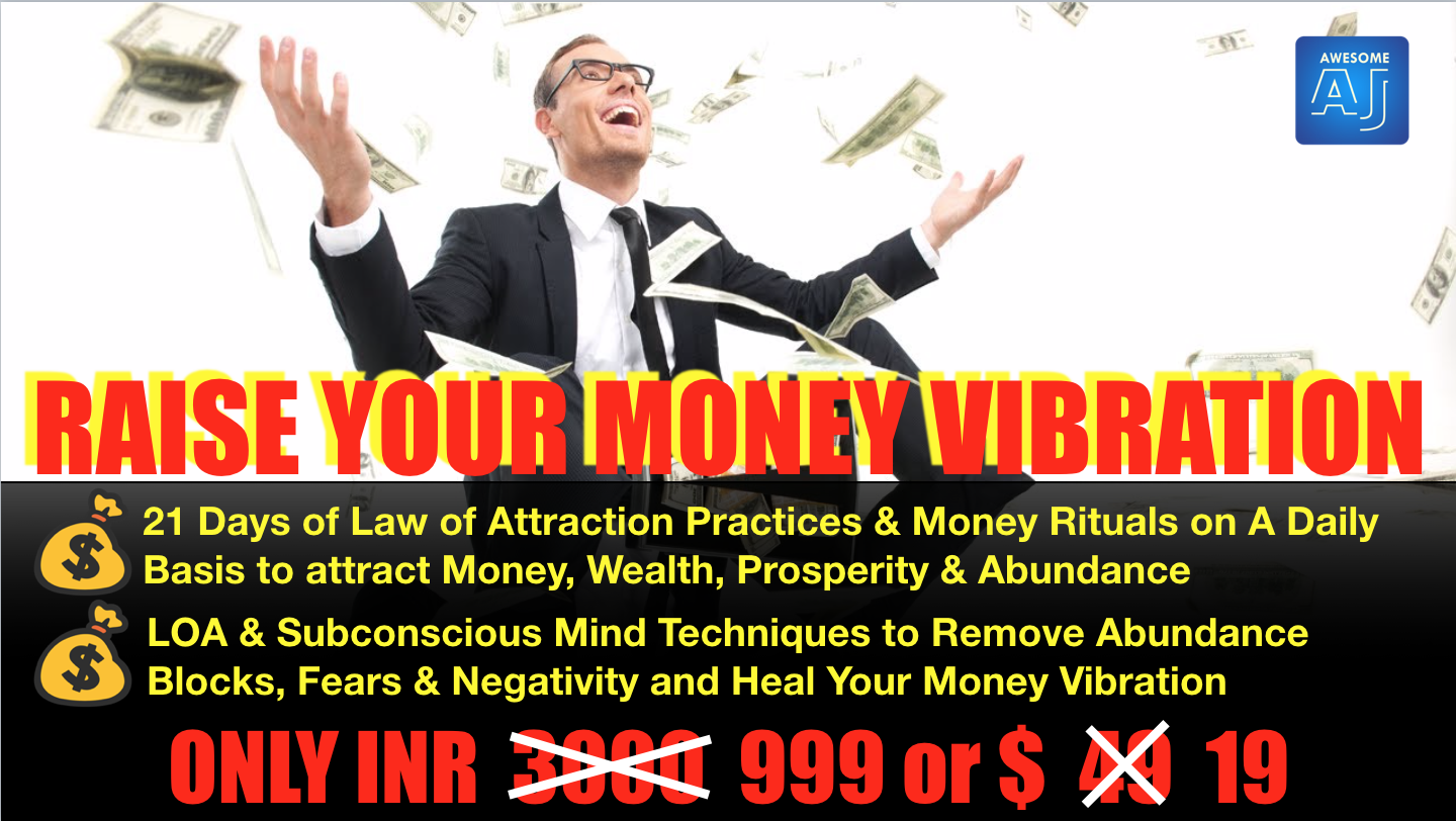 RAISE YOUR MONEY VIBRATION | Awesome AJ Academy