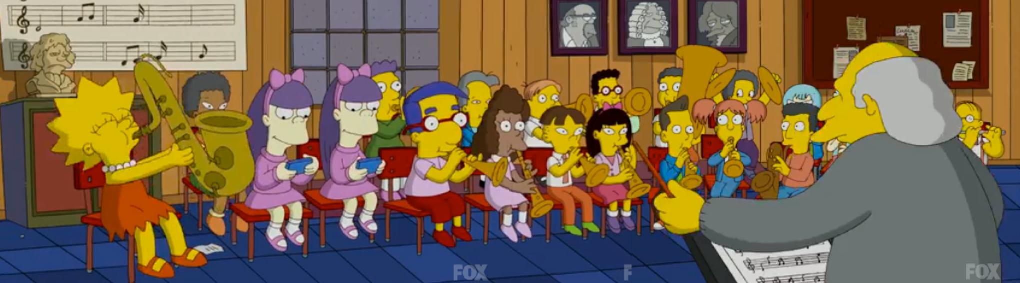 Simpsons school band - Irish primary music curriculum