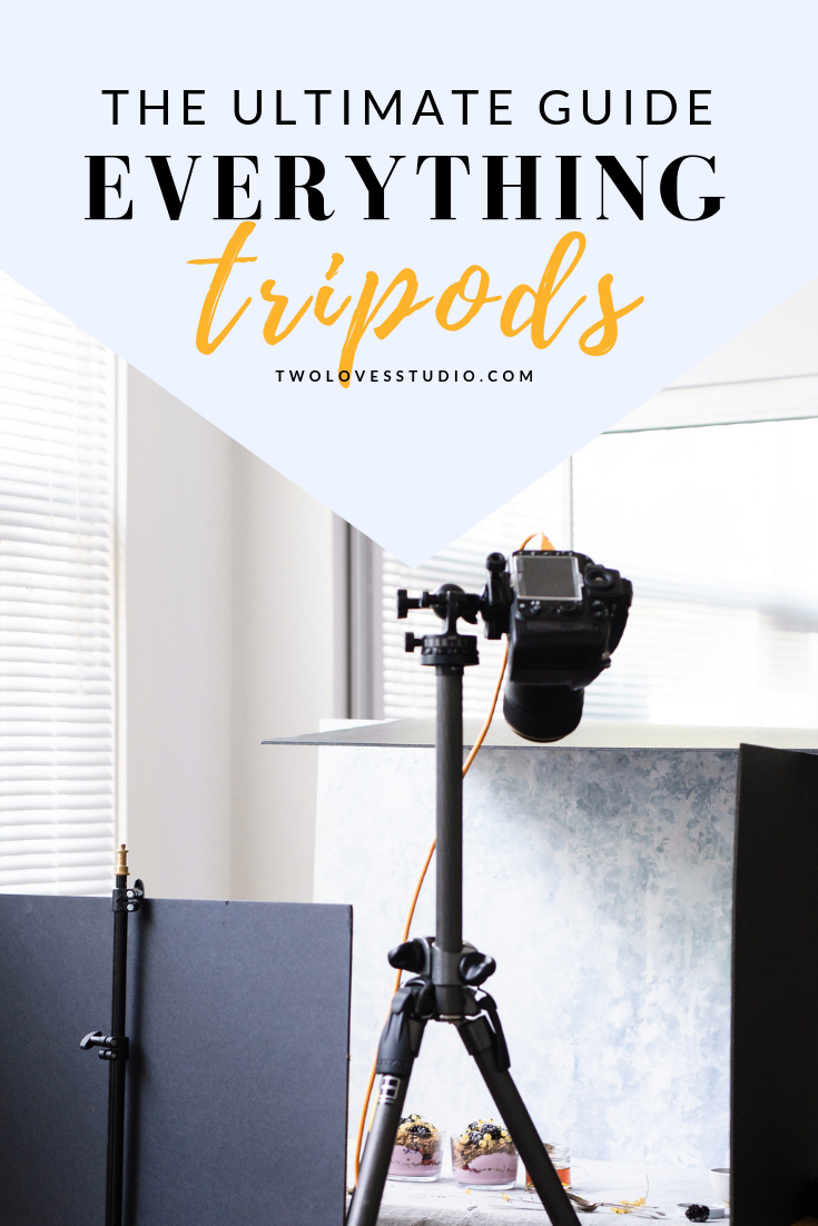 The ultimate guide to everything tripods! What the best tripod is for food photography and what you really need.