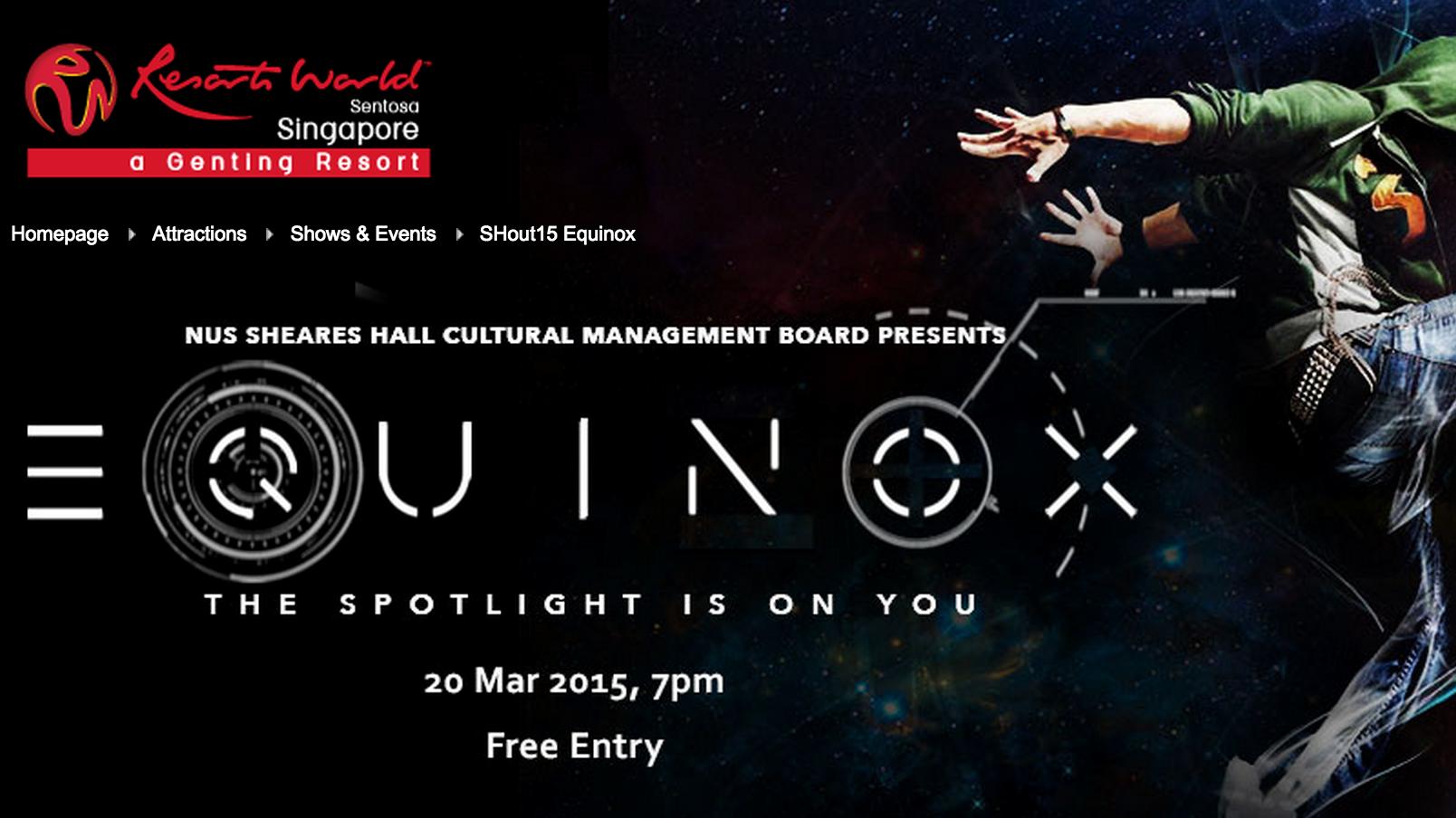 SHout 2015: Equinox
