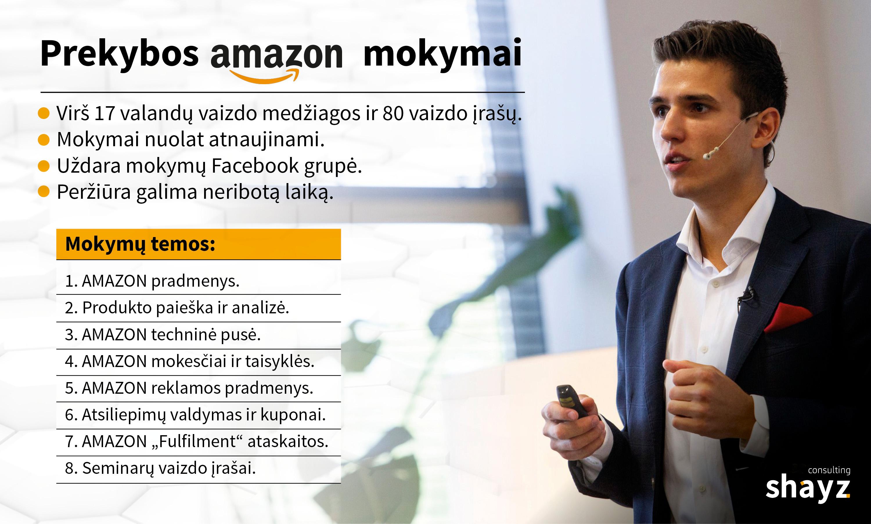 """Ką reikia žinoti ir kaip pasirengti prekybai platformoje """"Amazon""""?"""
