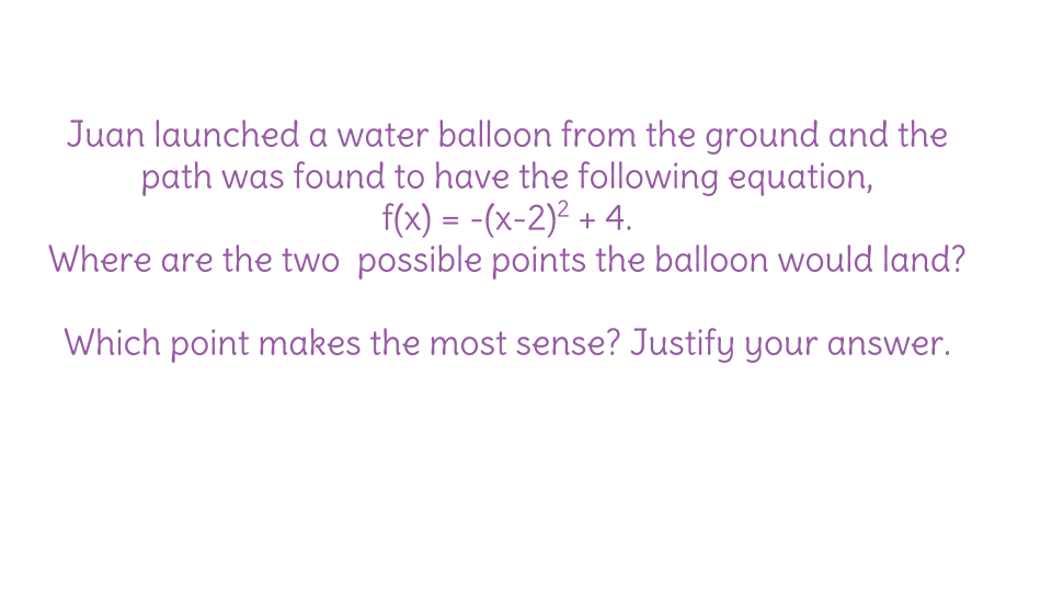Formative Assessment From The Lesson Plan 3 Solving Quadratic