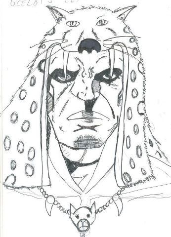 image: Upon receiving a blessing from The Olmec Jaguar God, Julio Sanchez Santana becomes Ocelot's Claw: The Olmec Were Jaguar.