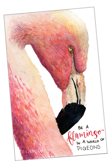 Painting a fabulous flamingo the imaginary realm for Flamingo feather paint