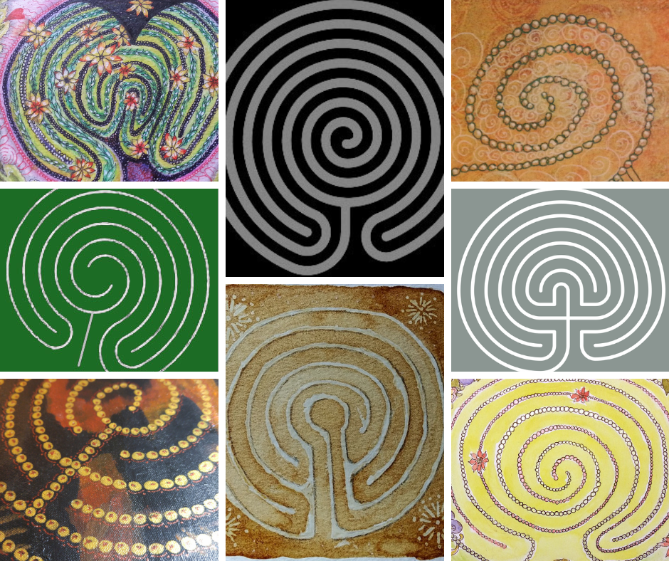 Classical Labyrinth Art Collage