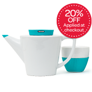 infusion ceramic teapot & cups from DAVIDsTEA