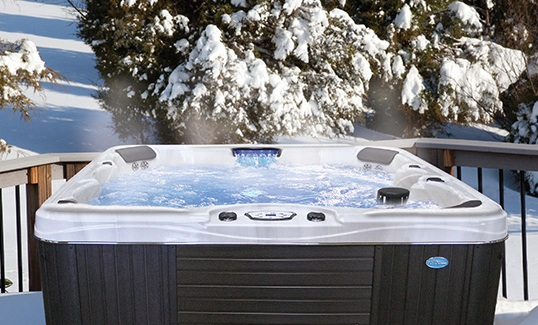 A new Core Camp hot tub at our accommodation