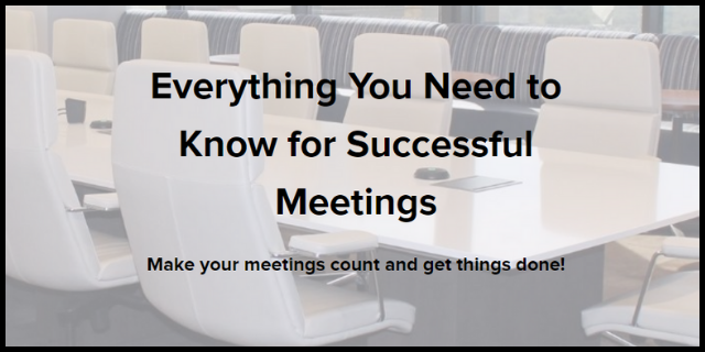Everything You Need to Know for Successful Meetings